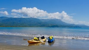 Sea kayaking at the whales tail, Uvita, Costa Rica